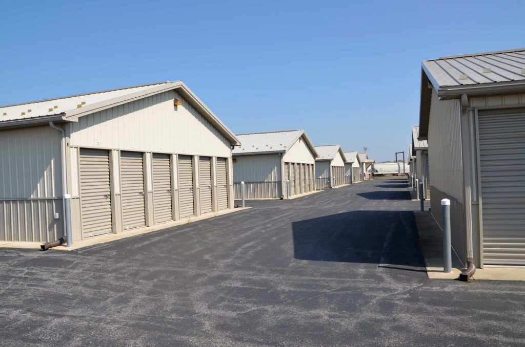Large doors to access storage units