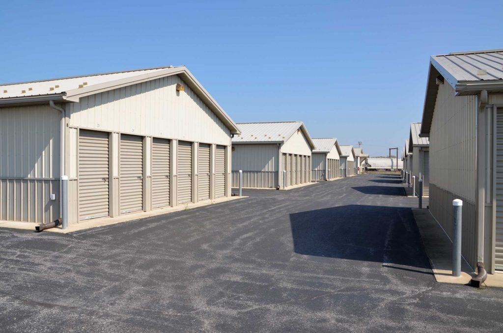Secure access with wide driveways to storage units at Valley Mini Storage