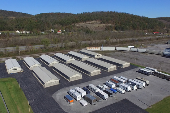 Aerial view of Valley Mini Storage property